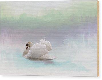 Serenity Wood Print by Annie Snel