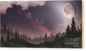 Wood Print featuring the digital art Serenity by Anthony Citro