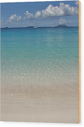 Serenity At Trunk Bay  Wood Print