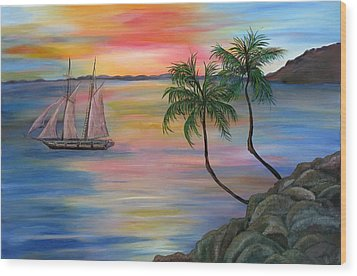Serenity Bay Wood Print by Mikki Alhart