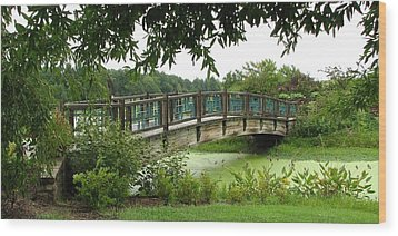 Wood Print featuring the photograph Serenity Bridge by David Dunham