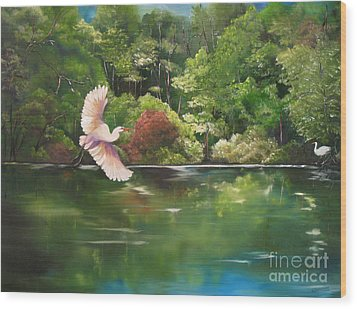 Serenity Wood Print by Carol Sweetwood