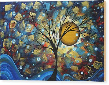 Serenity Falls By Madart Wood Print by Megan Duncanson