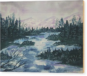 Wood Print featuring the painting Serenity IIi by Ellen Levinson