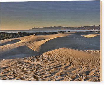 Serenity In The Dunes Wood Print