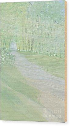 Serenity Wood Print by Joanne Perkins