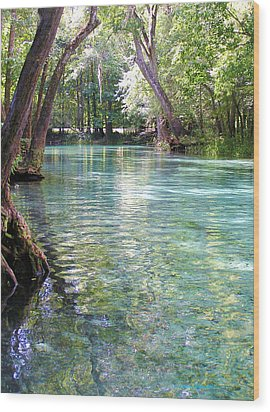 Serenity Wood Print by Li Newton