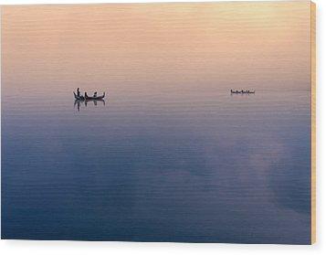 Serenity Wood Print by Marji Lang