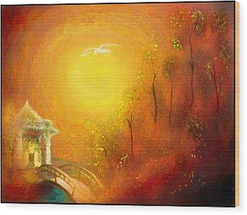 Serenity Wood Print by Michael Cleere