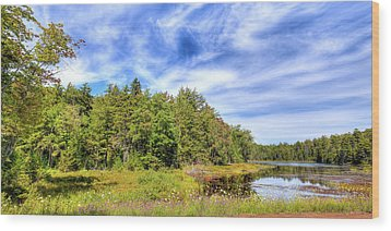 Wood Print featuring the photograph Serenity On Bald Mountain Pond by David Patterson