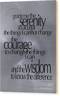 Serenity Prayer 05 Wood Print