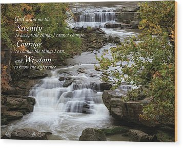 Wood Print featuring the photograph Serenity Prayer by Dale Kincaid