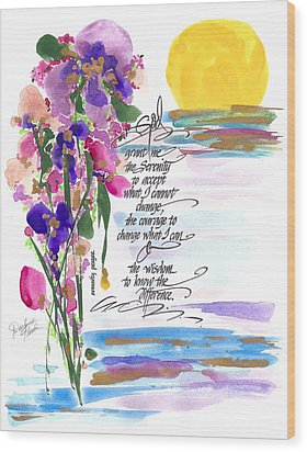 Serenity Prayer Wood Print