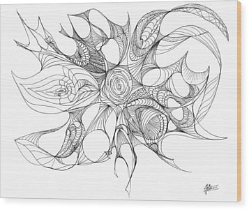 Serenity Swirled Wood Print by Charles Cater