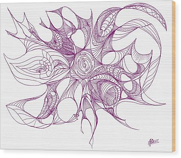 Serenity Swirled In Purple Wood Print by Charles Cater