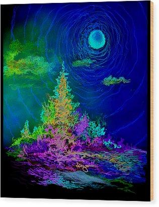 Serenity Wood Print by William Vanya