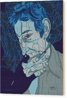 Serge Gainsbourg Wood Print by Suzanne Gee