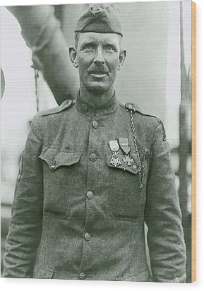 Sergeant Alvin York Wood Print by War Is Hell Store