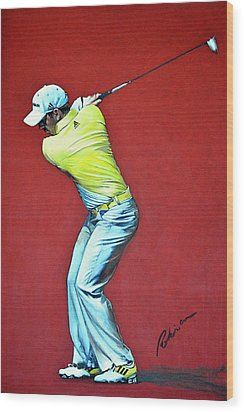 Sergio Garcia By Mark Robinson Wood Print by Mark Robinson