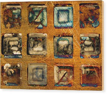 Serial Variation Wood Print