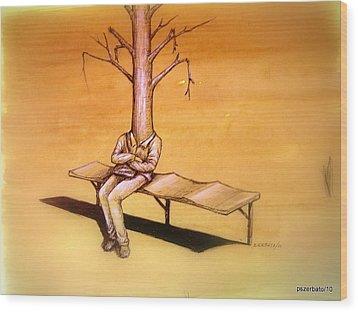 Series Trees Drought 4 Wood Print by Paulo Zerbato