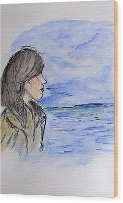 Serious Girl Wood Print by Clyde J Kell