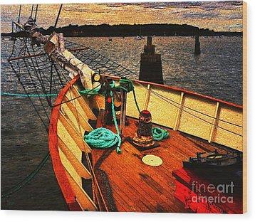 Set Sail Wood Print by Jeff Breiman