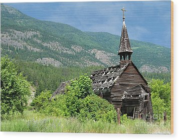 Wood Print featuring the photograph Seton Portage Church 2 by Rod Wiens
