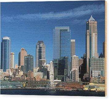 Seattle, Wa, Fine Art Print Wood Print by Greg Sigrist