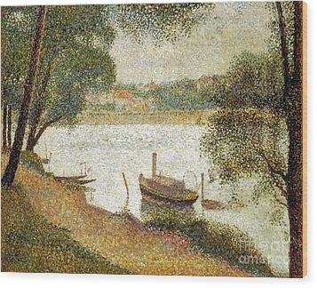 Seurat: Gray Weather Wood Print by Granger