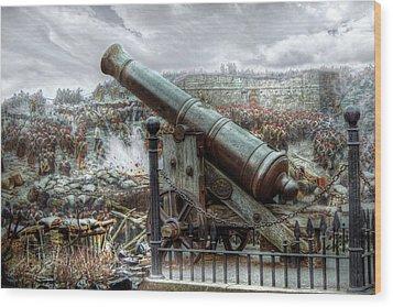 Sevastopol Cannon 1855 Wood Print by Pennie  McCracken