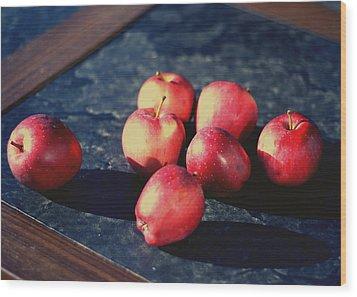Seven Apples Wood Print by Susie DeZarn