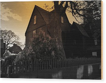 Wood Print featuring the photograph Seven Gables by Laura DAddona