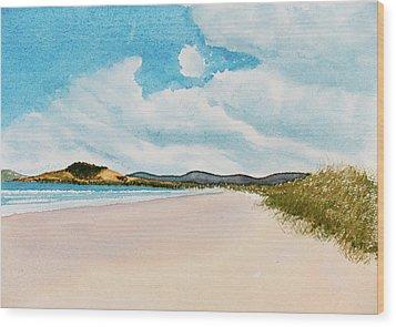 Seven Mile Beach On A Calm, Sunny Day Wood Print