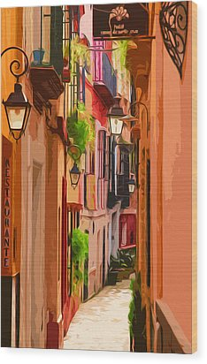 Seville, Colorful Spain Wood Print