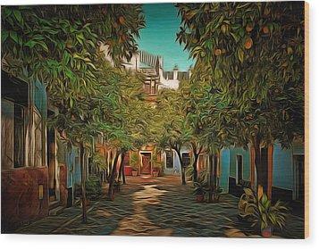 Seville Oranges Wood Print