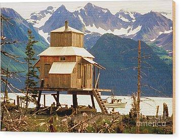 Seward Alaska House Of Stilts Wood Print by James BO  Insogna