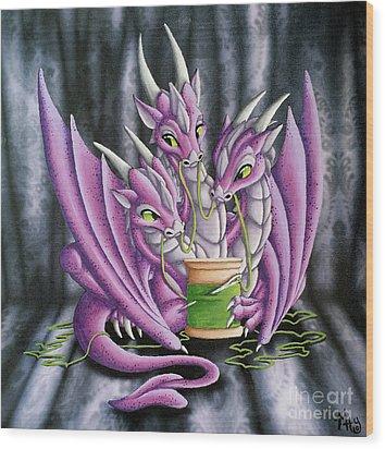 Sewing Dragons Wood Print