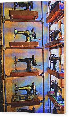 Sewing Machine Retirement Wood Print by Jost Houk