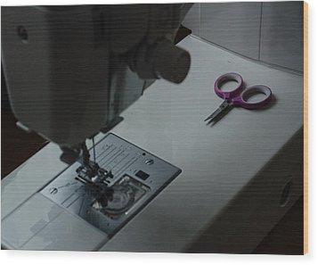 Sewing Reflections Wood Print