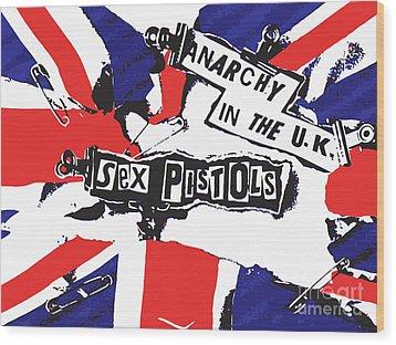 Sex Pistols No.02 Wood Print by Caio Caldas