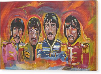 Sgt Pepper Wood Print by Colin O neill