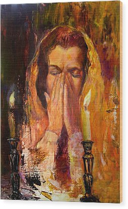Shabbat's Pray Wood Print