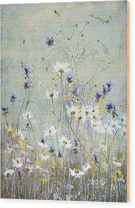 Wood Print featuring the painting Shabby Ten by Laura Lee Zanghetti