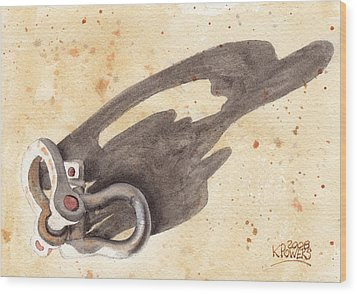 Shackles With Five O Clock Shadow Wood Print by Ken Powers
