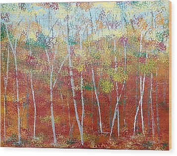 Shades Of Autumn Wood Print