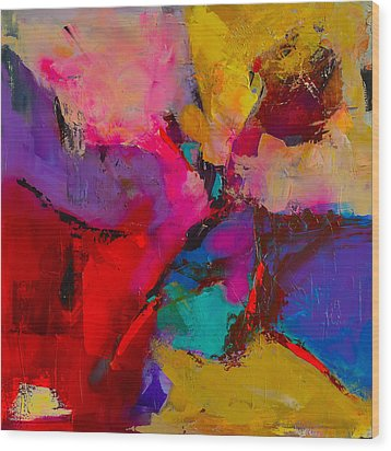 Wood Print featuring the painting Shades Of Colors - Art By Elise Palmigiani by Elise Palmigiani