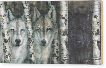 Shades Of Gray Wood Print