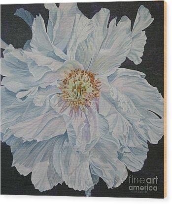 Shades Of White Wood Print by Helen Shideler