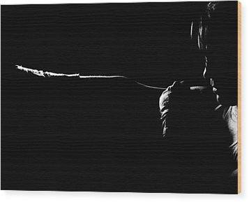 Shadow Boxing Wood Print by Scott Sawyer